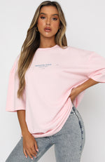 Lost In Translation Tee Baby Pink