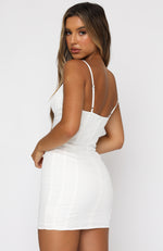 Under Wraps Mini Dress White