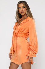Split Second Mini Dress Orange