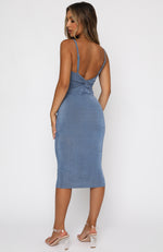 Prove Them Wrong Midi Dress Blue