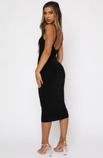 Prove Them Wrong Midi Dress Black