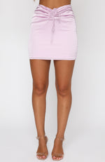Mirror Image Mini Skirt Mauve
