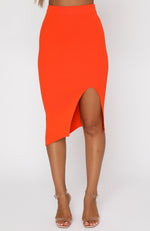 With Confidence Midi Skirt Fiery Red