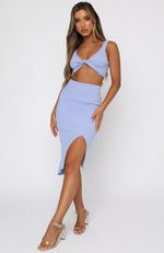With Confidence Midi Skirt Blue