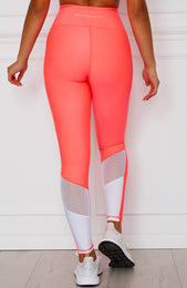 Alexis Panel Leggings Coral