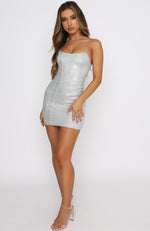 Show Me Off Mini Dress Silver