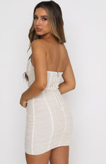 For The Night Mini Dress Ivory