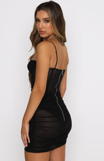 Model Behaviour Mini Dress Black