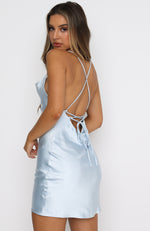Chain Of Hearts Mini Dress Baby Blue