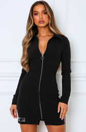 Close Encounter Blazer Dress Black