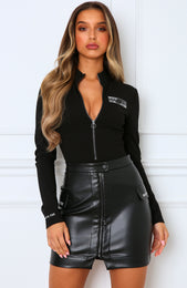 High Authority Bodysuit Black