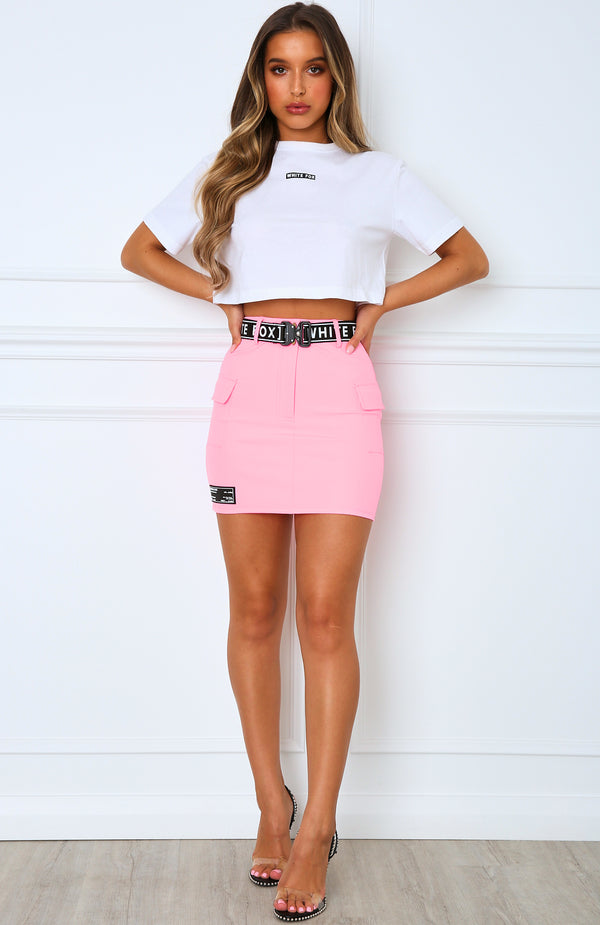 Underrated Mini Skirt Pink