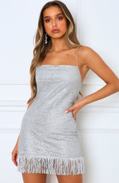 Bad For You Mini Dress Silver