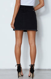 Wellington Skirt Washed Black