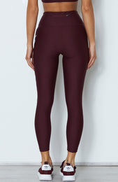 Lulu Logo Leggings Merlot