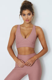 Ivy Sports Bra Dusty Rose