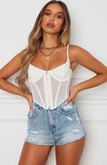 Unapologetic Bustier White