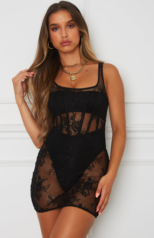 Please Me Mini Dress Black