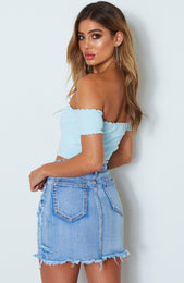Rockettes Knit Crop Baby Blue