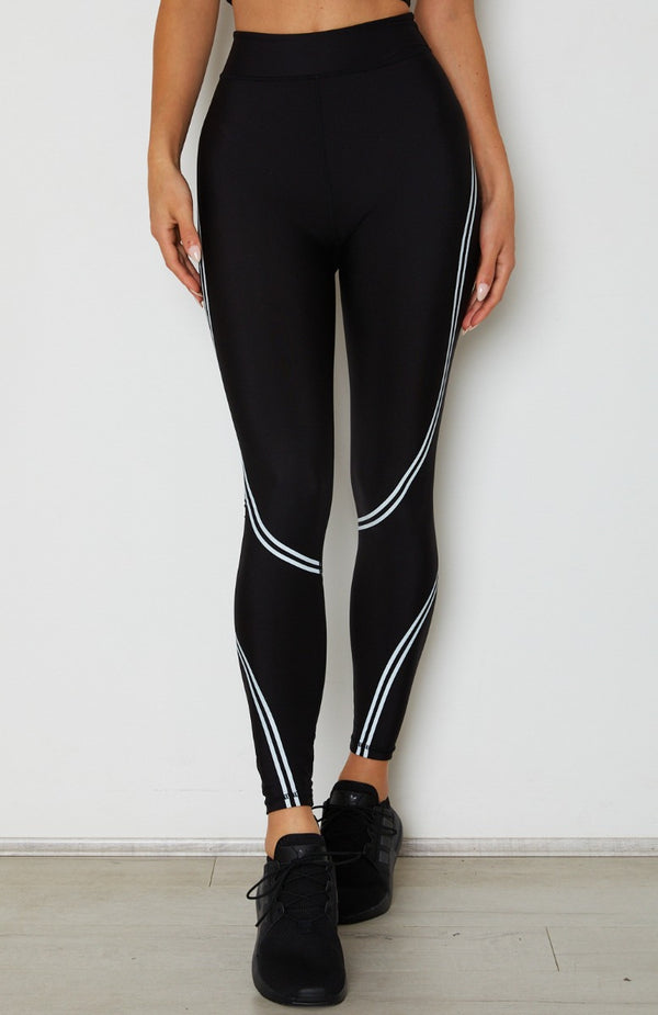 Switched On Panel Leggings Black
