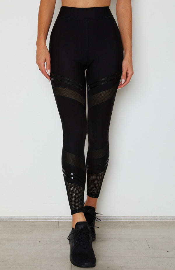 Set The Bar Mesh Leggings Black