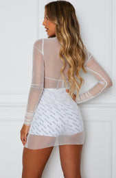 Think Again Mini Dress White