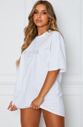 All The Way Up Tee Dress White