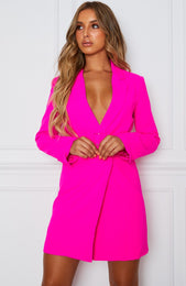 Join The Club Blazer Dress Hot Pink
