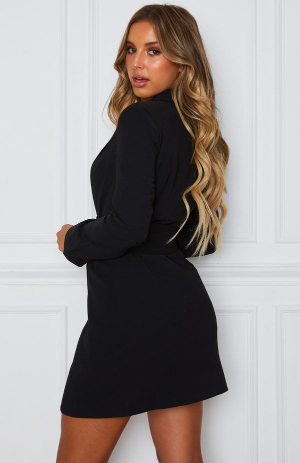 Join The Club Blazer Dress Black