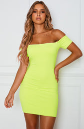 Zamora Mini Dress Neon Yellow