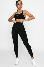 High Waisted Core Training Leggings Black