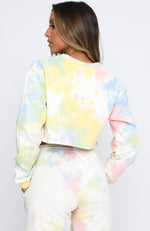 True Reflections Cropped Sweater Rainbow Tie Dye