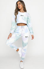 Backstage Antics Sweatpants Stormy Tie Dye