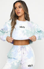 True Reflections Cropped Sweater Stormy Tie Dye