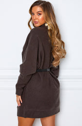 What You Want Knit Dress Dark Grey