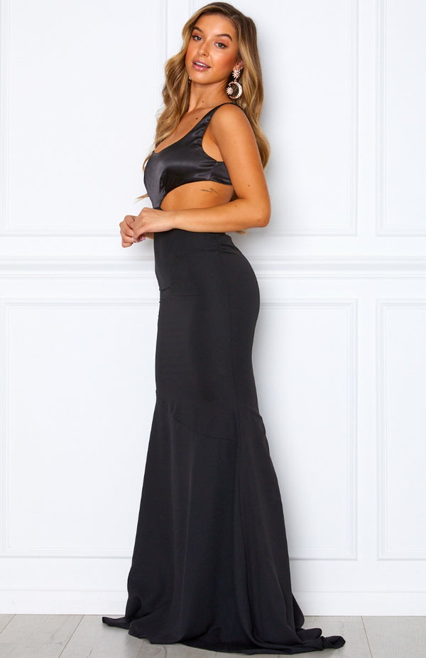 On A Roll Maxi Dress Black