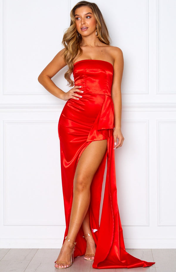 Red Carpet Maxi Dress Red