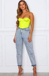 Show Up Bustier Neon Yellow
