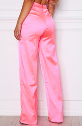 Less Talk Pants Neon Pink
