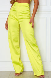 Less Talk Pants Neon Yellow
