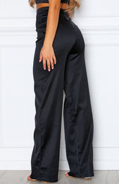 Less Talk Pants Black