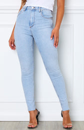 Cry Me A River Skinny Jeans Powder Blue