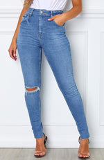 Sometimes Skinny Jeans Electric Blue