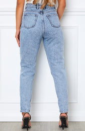 Rock Your Body Boyfriend Jeans Mid Blue