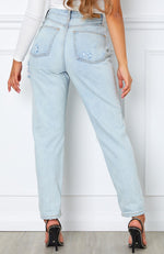 Piece Of Me Boyfriend Jeans Light Blue