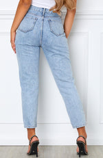 Drive Me Crazy Cropped Jeans Mid Blue