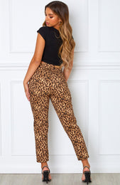 Drive Me Crazy Cropped Jeans Leopard