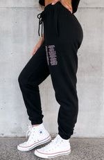 Up Late Sweatpants Black