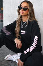 On The Road Oversized Sweater Black