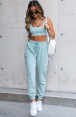 Tied Together Sweatpants Sage